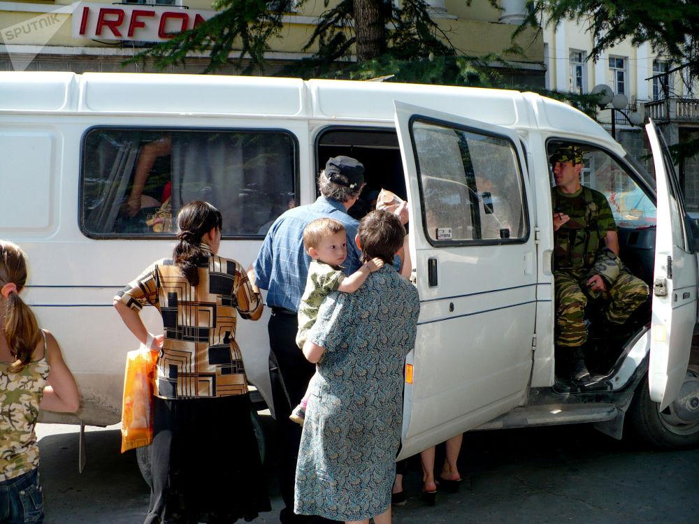 Цхинвал, эвакуация детей. Война 08.08.08.