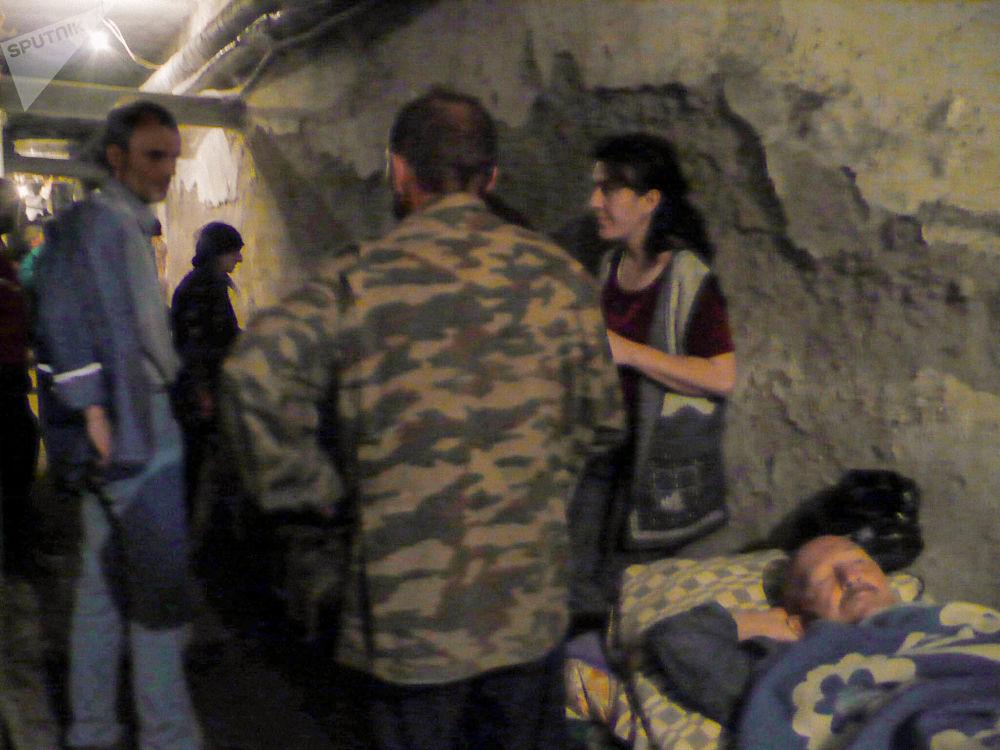 В подвале больницы. Цхинвал. Война 08.08.08.