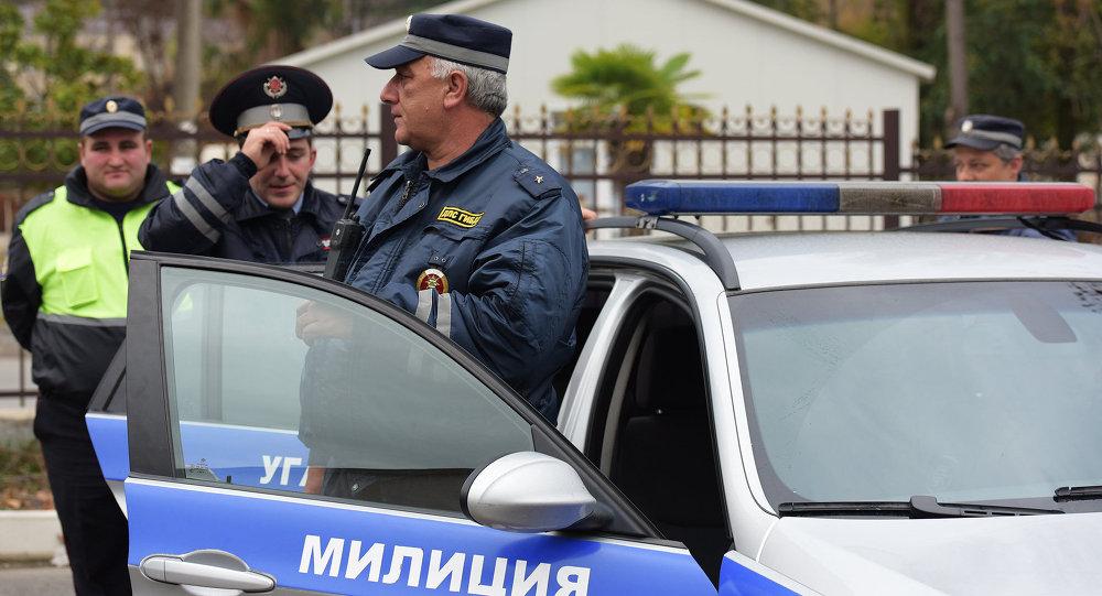 Сотрудники ДПС УГАИ МВД Абхазии. Архивное фото