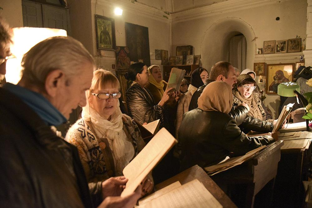 Рождественская служба в Сухумском кафедральном соборе.