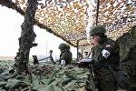Российские военнослужащие во время учений. Архивное фото.