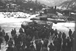 Работа российских вертолетов во время грузино-абхазской войны.