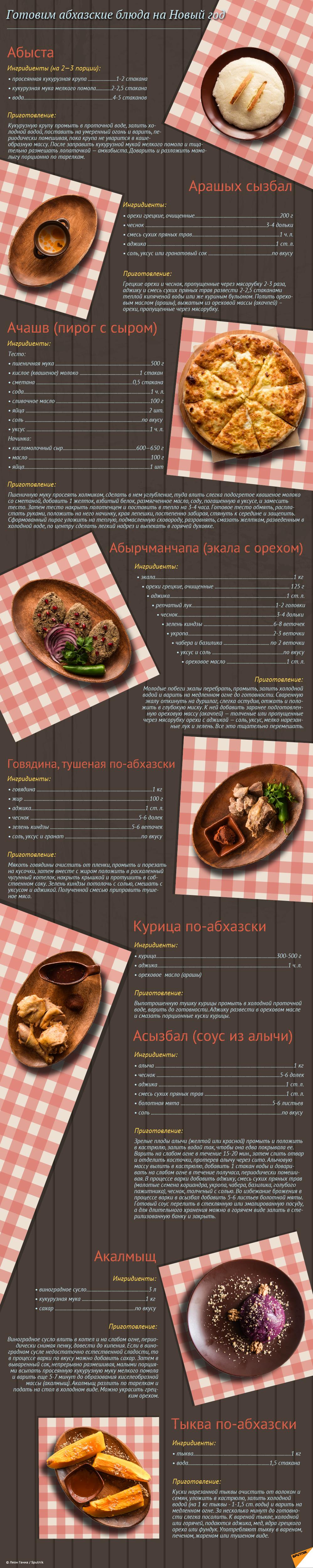 Готовим абхазские блюда на Новый год