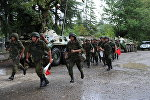 Российская военная база в Гудауте.