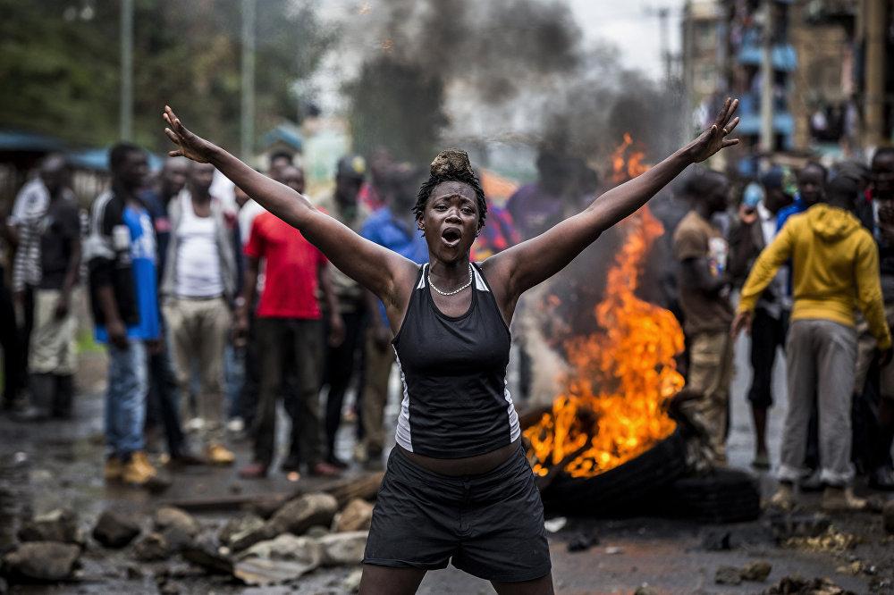 Работа испанского фотографа Луиса Тато. Беспорядки в Кении после выборов. Главные новости, серии, 1 место.