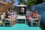 Туристы из России отдыхают в Абхазии