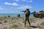Тактические учения на российской военной базе в Абхазии