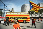 Акции сторонников независимости Каталонии в Барселоне