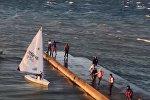 В Геленджике во время регаты десять яхт не смогли добраться до берега