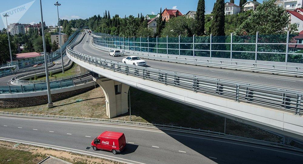 Автомобильная развязка в Сочи