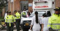 Сотрудники полиции и скорой помощи в Боготе, Колумбия. Архивное фото