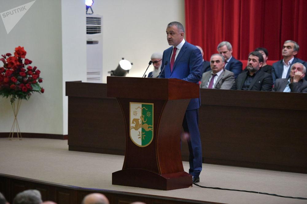 Инаугурация президента Абхазии Рауля Хаджимба