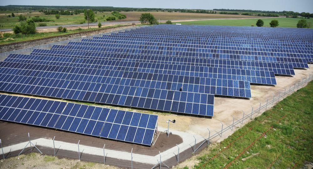 Открытие солнечной электростанции во Львовской области