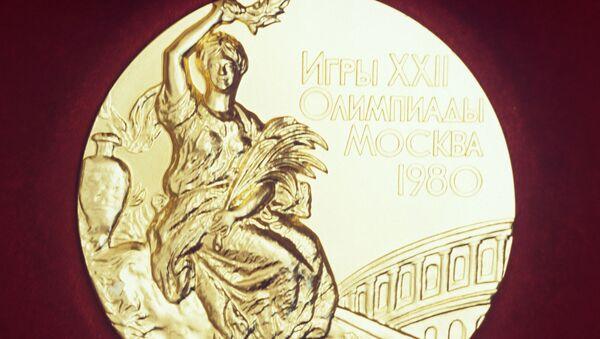 Лицевая сторона золотой медали XXII Олимпийских игр 1980 года - Sputnik Абхазия