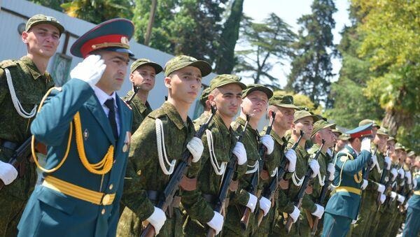 Принятие присяги абхазскими новобранцами - Sputnik Абхазия