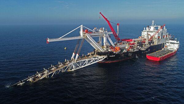 Судно на шельфе Балтийского моря по газопроводу Северный поток 2 - Sputnik Аҧсны