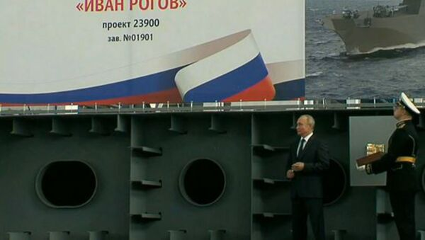LIVE: Владимир Путин участвует в церемонии закладки боевых кораблей для ВМФ РФ в Крыму - Sputnik Абхазия
