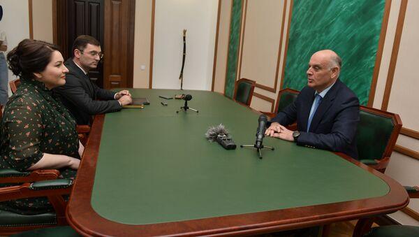 Встреча президента Аслана Бжания с Хиблой Герзмава - Sputnik Аҧсны