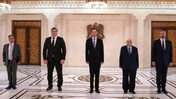 Башар аль-Асад принял Чрезвычайного и Полномочного Посла Республики Абхазия в Сирийской Арабской Республике Баграта Хутаба - Sputnik Абхазия