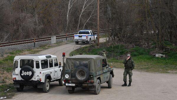 Греческие военные на границе Греции и Турции - Sputnik Абхазия