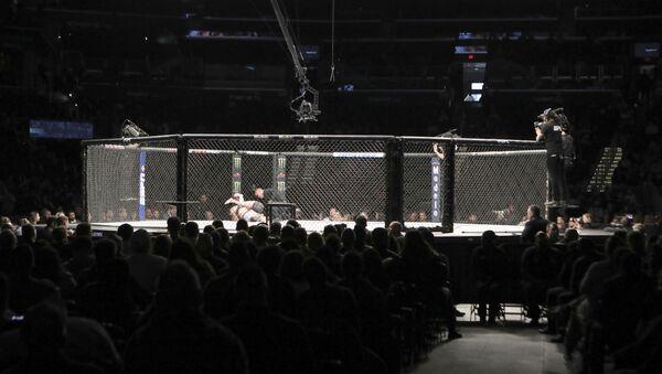 Общий вид восьмиугольника на UFC Fight Night в воскресенье, 8 декабря 2019 г., в Вашингтоне, округ Колумбия  - Sputnik Абхазия