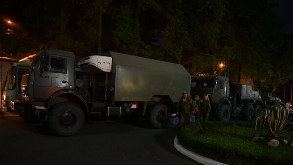 Мобильный госпиталь Минобороны России прибыл в столицу Абхазии - Sputnik Аҧсны