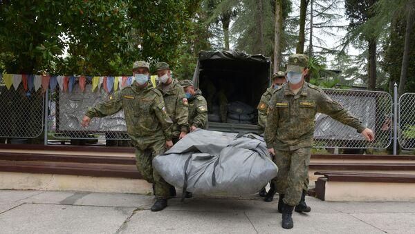 Помощь подоспела: как в Абхазии развернули российский мобильный госпиталь - Sputnik Абхазия