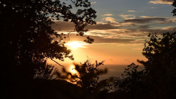 Солнце на закате  - Sputnik Абхазия