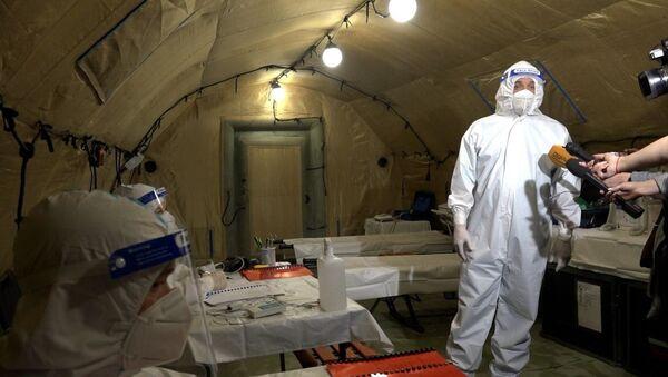 Раԥхьатәи апациентцәа: Аҟәа иаарту урыстәылатәи агоспиталь COVID-19 злоу ачымазцәа шаднакылаз - Sputnik Аҧсны
