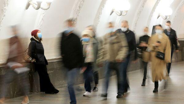 Московское метро во время ограничений в связи с коронавирусом - Sputnik Аҧсны