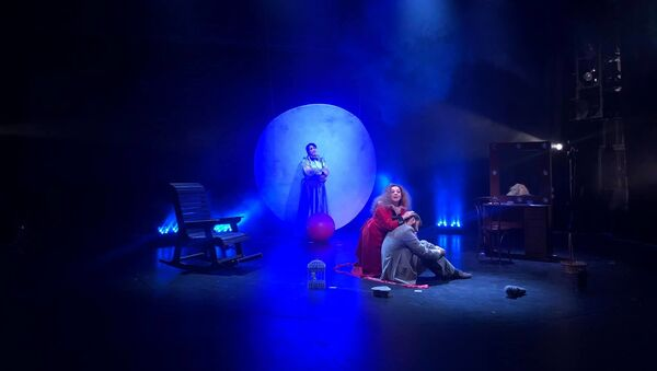 Сцена из вечера Чехова. Симона Спафопуло  - Sputnik Аҧсны