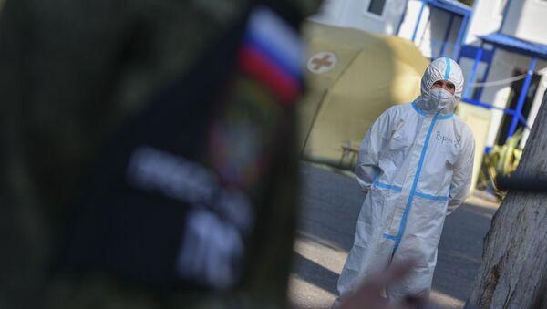 Российский военный госпиталь в гостинице Айтар  - Sputnik Абхазия
