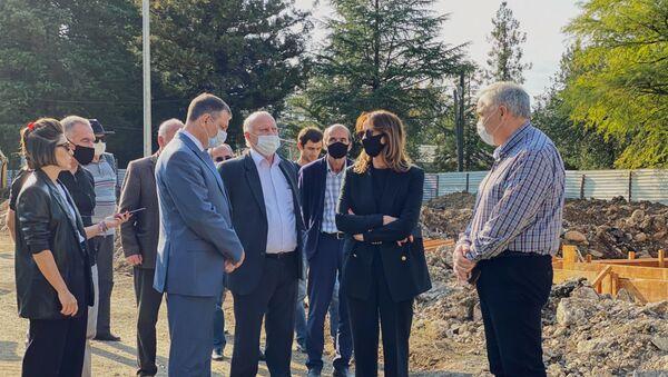 Министр экономики Кристина Озган в ходе рабочей поездки провела инспекцию ряда объектов - Sputnik Абхазия