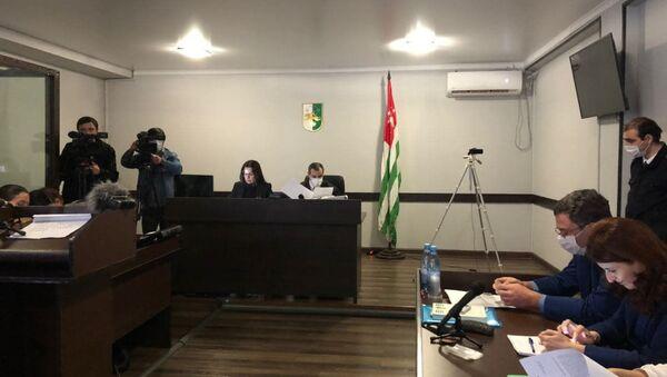 Судебное заседание по делу об убийстве административно задержанного Анзора Тарба  - Sputnik Абхазия