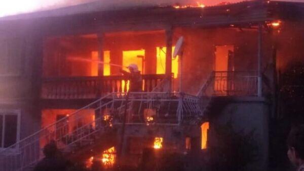 Возгорание жилого дома в селе Отхара - Sputnik Абхазия