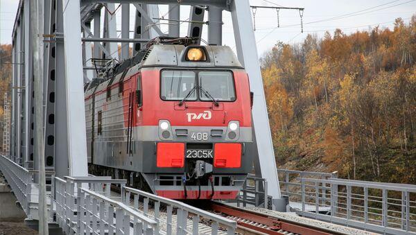 Открытие нового ж/д моста через реку Кола - Sputnik Аҧсны