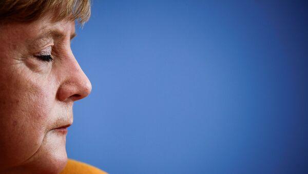 Канцлер Германии Ангела Меркель во время посвященной коронавирусу пресс-конференции в Берлине - Sputnik Абхазия
