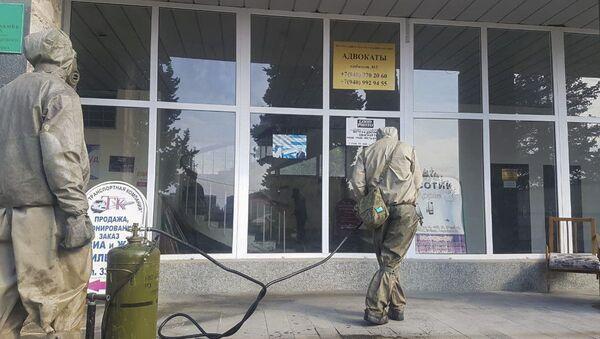 Российские военнослужащие завершили дезинфекцию в черте города Гагра  - Sputnik Аҧсны