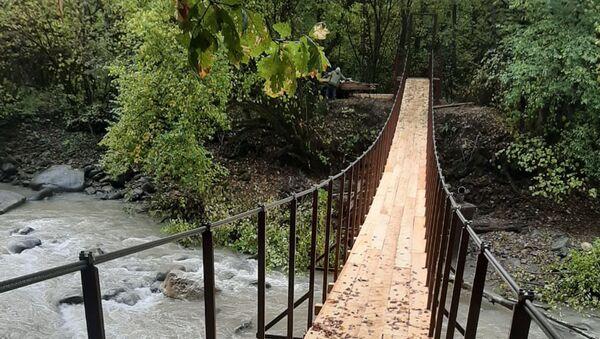 Новый мост в между абхазской и российской частью села Аибга  - Sputnik Аҧсны