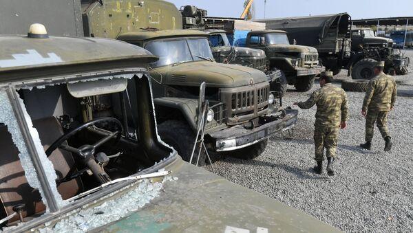Техника, захваченная в ходе боевых действий в Нагорном Карабахе азербайджанскими военными - Sputnik Абхазия