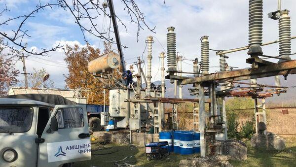 Замена трансформатора на подстанции села Дурипш - Sputnik Абхазия