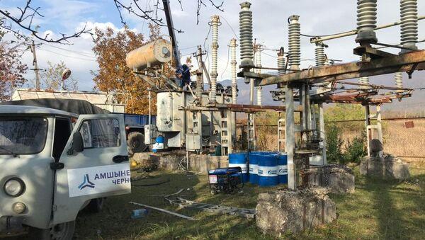 Замена трансформатора на подстанции села Дурипш - Sputnik Аҧсны