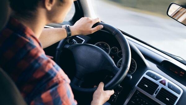 Водитель за рулем автомобиля  - Sputnik Абхазия