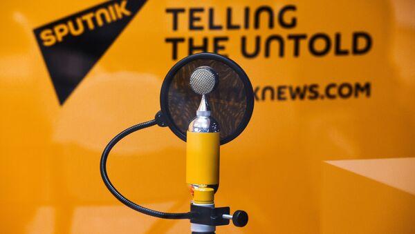 Студия радио Sputnik в Экспофоруме накануне открытия Санкт-Петербургского международного экономического форума 2017. - Sputnik Аҧсны