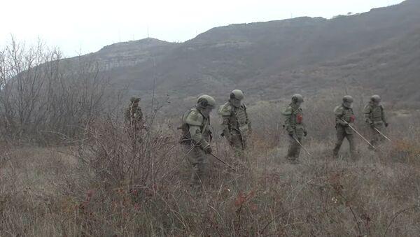 Разминирование южной окраины Степанакерта и утилизация найденных боеприпасов - Sputnik Абхазия
