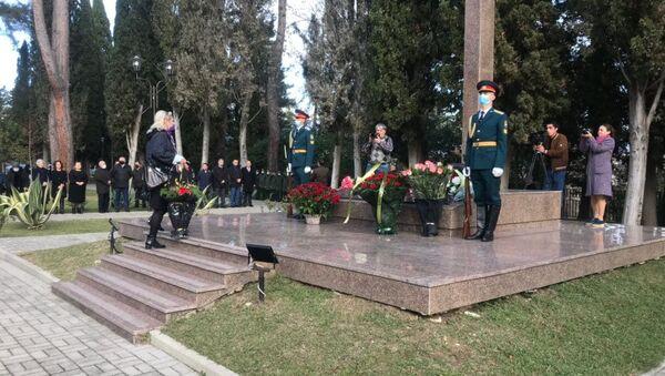 Сотни жителей Абхазии почтили память погибших в Латской трагедии в понедельник 14 декабря.  - Sputnik Абхазия