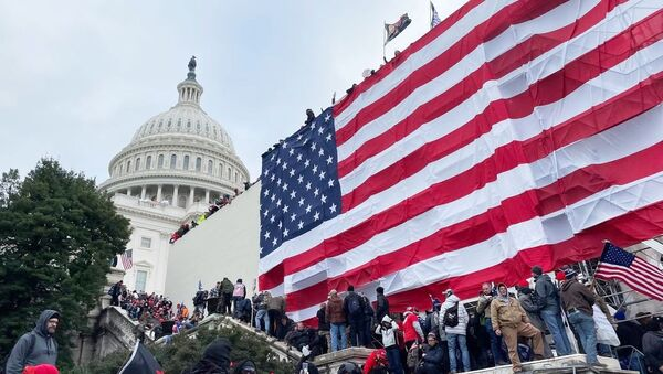 Акция протеста сторонников Д. Трампа в Вашингтоне - Sputnik Аҧсны