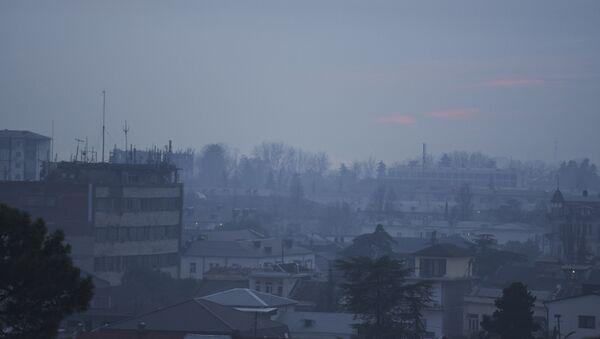 Задымленность в городе Сухум  - Sputnik Аҧсны
