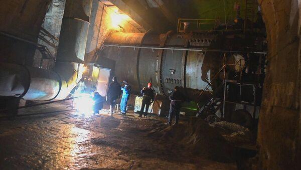 Ремонт деривационного тоннеля на ИнгурГЭС - Sputnik Аҧсны