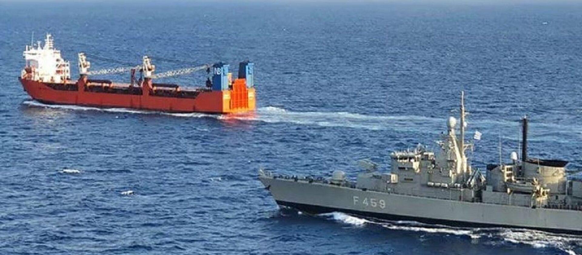 Греческие военные досмотрели в Средиземном море российское судно Адлер - Sputnik Абхазия, 1920, 15.01.2021